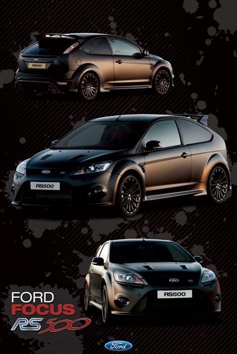 Ford Focus - rs 500 - плакат