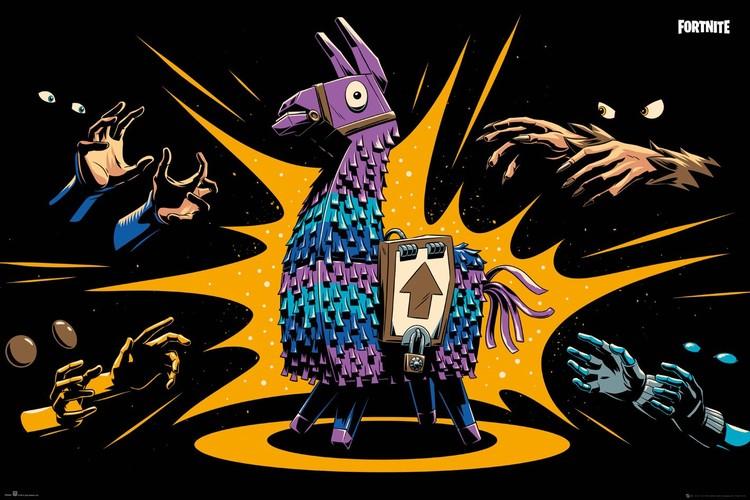 Fortnite - Loot Llama плакат