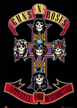 Guns'n'Roses - appetite плакат