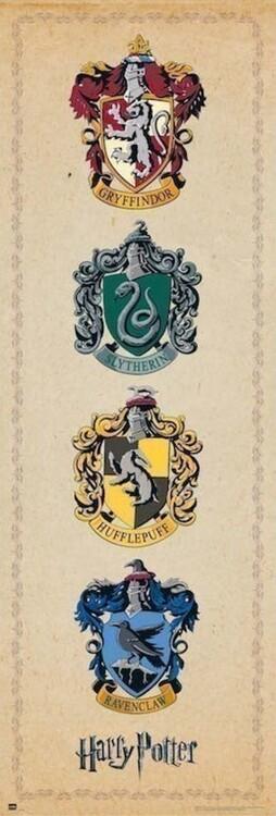 Harry Potter - House Crests плакат