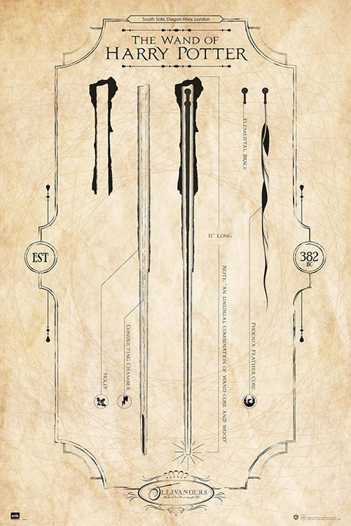 Harry Potter - The Wand плакат