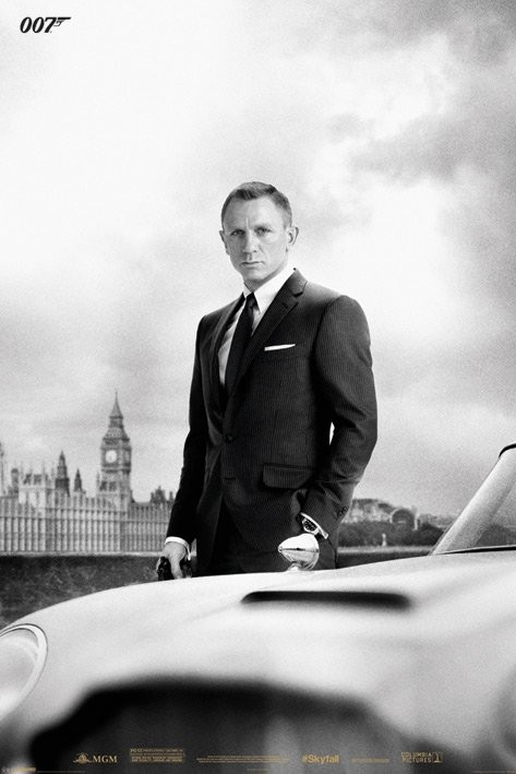 JAMES BOND 007 - skyfall / bond & DB5 плакат