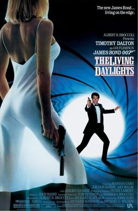 JAMES BOND 007 - the living daylights - плакат