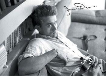 James Dean - camera b&w плакат