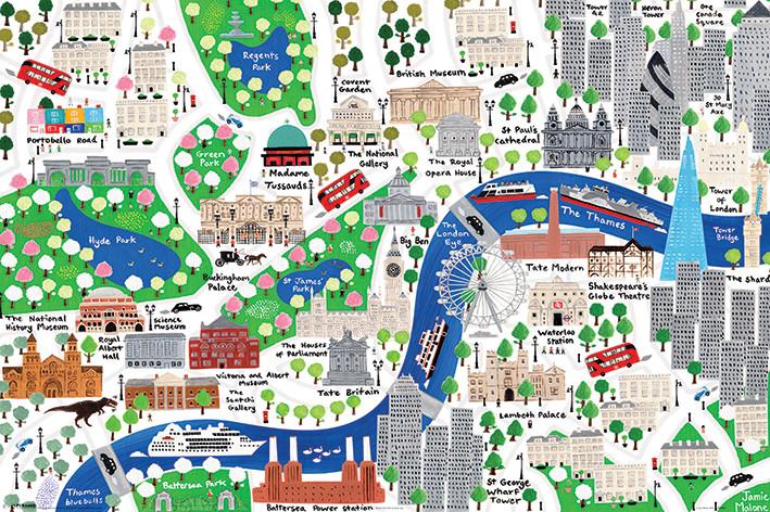 Jamie Malone - London - плакат