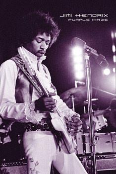Jimi Hendrix - purple haze плакат