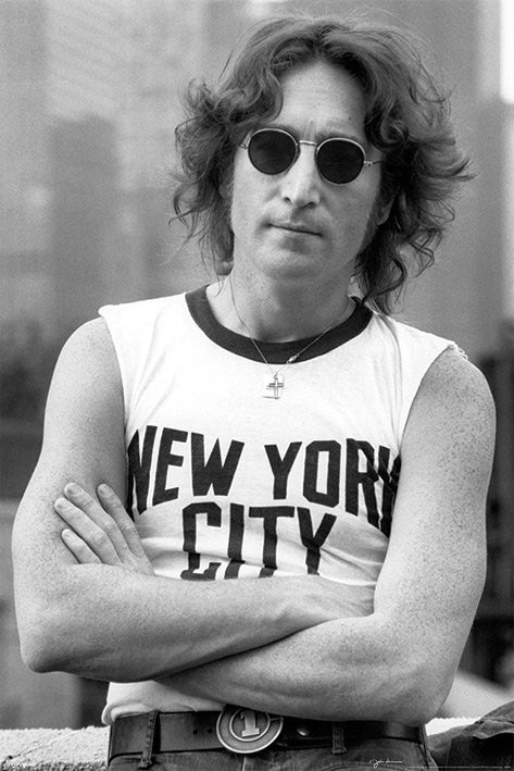 John Lennon - nyc bob gruen - плакат