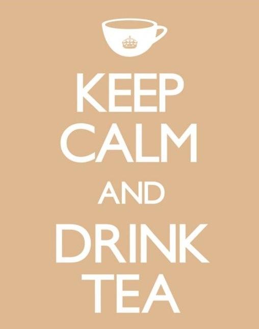Keep calm & drink tea плакат