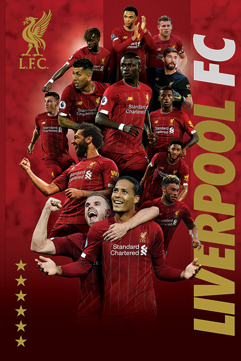 Liverpool FC - Players 2019-20 плакат