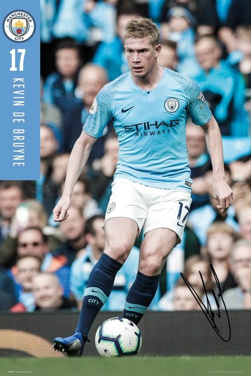 Manchester City - De Bruyne 18-19 плакат