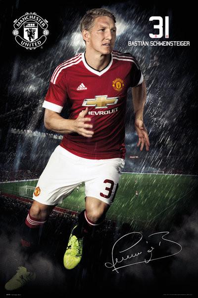 Manchester United FC - Schweinsteiger 15/16 плакат
