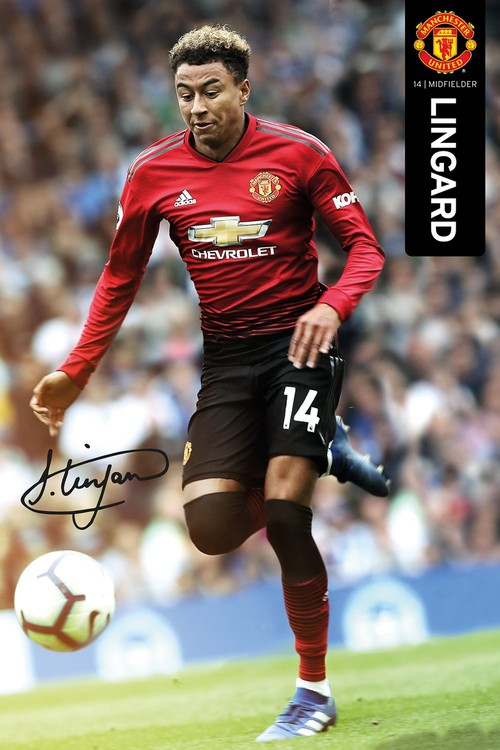Manchester United - Lingard 18-19 плакат