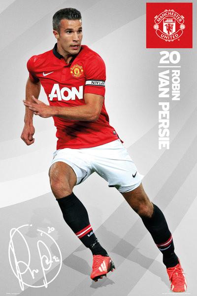 Manchester United - van persie 13/14 - плакат