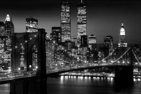 Manhattan - night плакат