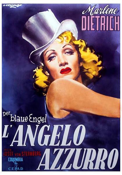 Marlene Dietrich - Der Blaue Engel - плакат
