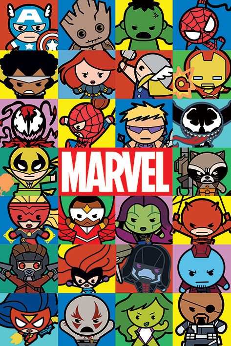 Marvel - Characters (Kawaii) плакат