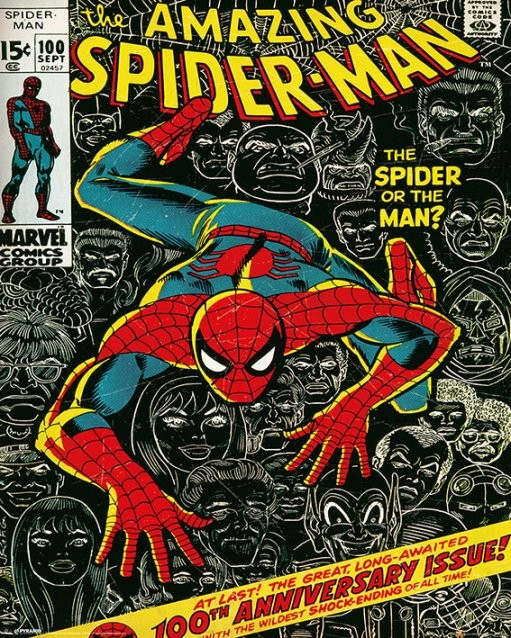 MARVEL - spider-man cover - плакат