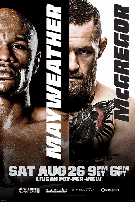 Mayweather vs McGregor: Fight Poster плакат