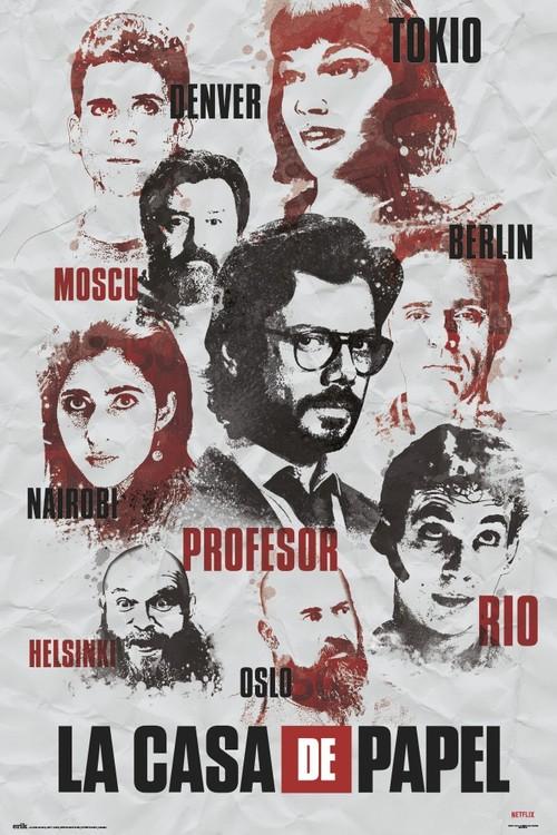 Money Heist - Characters плакат