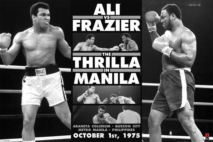 Muhammad Ali - thrilla in manila b/w плакат