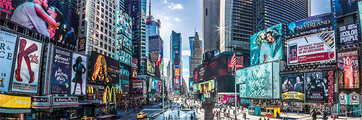 New York - Times Square Panoramic плакат