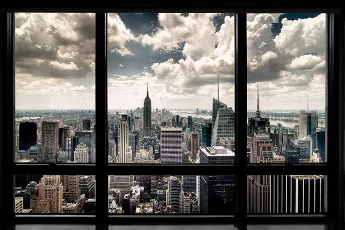 New York - window - плакат