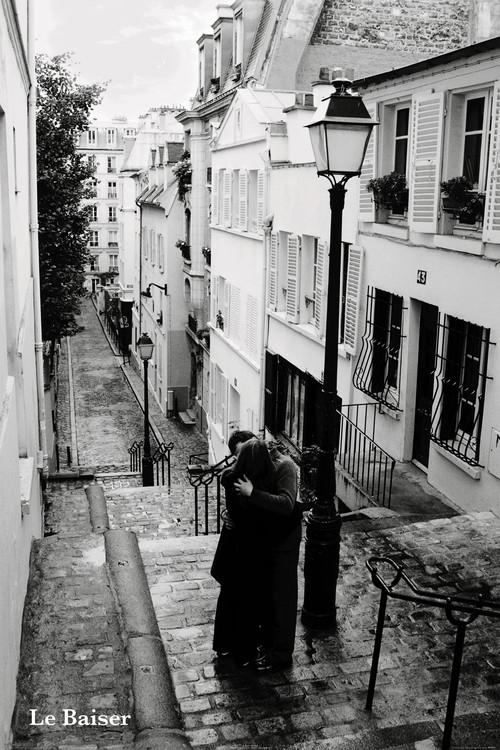 Paris - le baiser - плакат