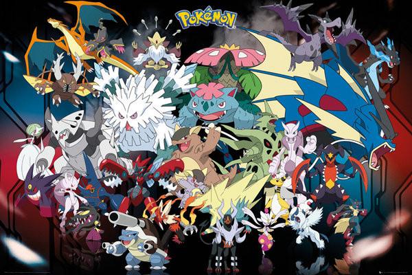 Pokémon - Mega - плакат