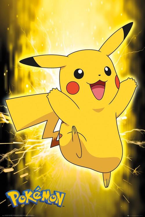 Pokemon - Pikachu Neon плакат