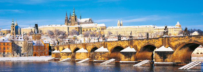 Prague – Prague castle / winter - плакат