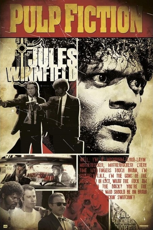 Pulp Fiction - Jules плакат