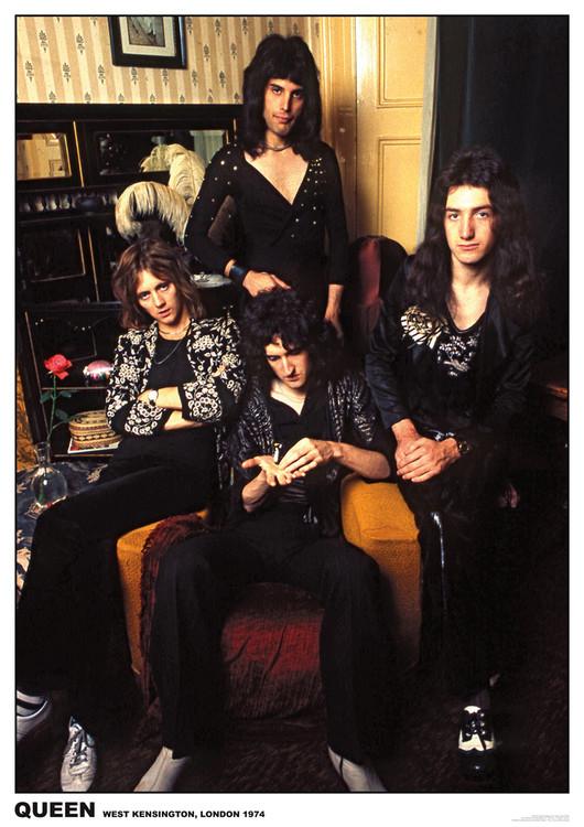 Queen - London 1974 плакат