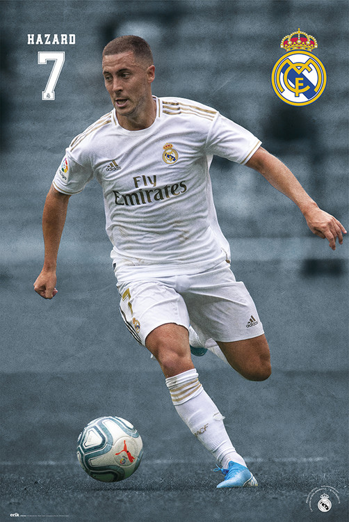 Real Madrid 2019/2020 - Hazard плакат