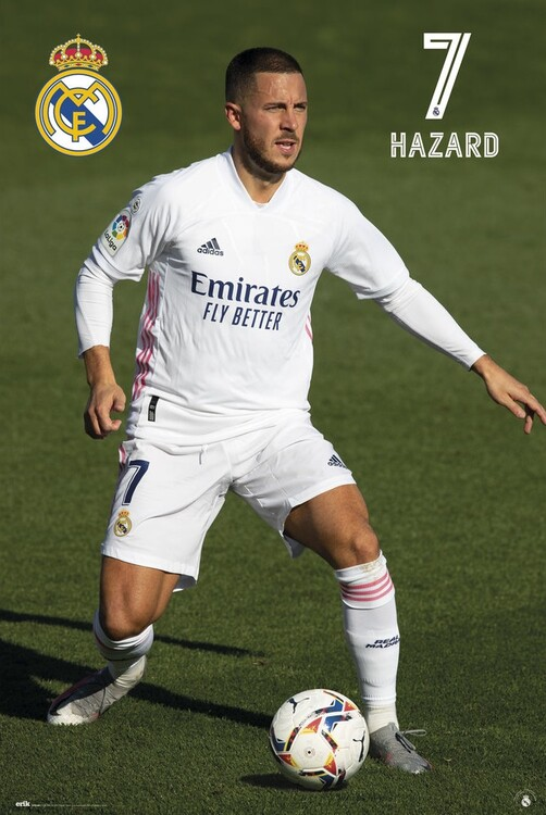 Real Madrid - Hazard 2020/2021 плакат