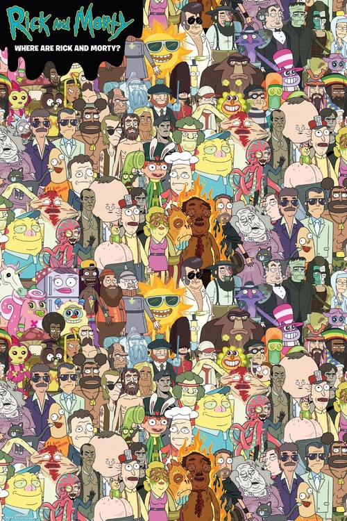 Rick and Morty - Where's Rick плакат