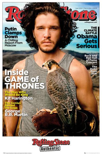 Rolling Stone - Game of Thrones Jon Stark плакат