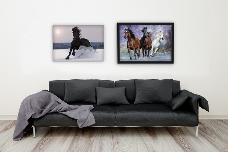 Running horses - bob langrish плакат