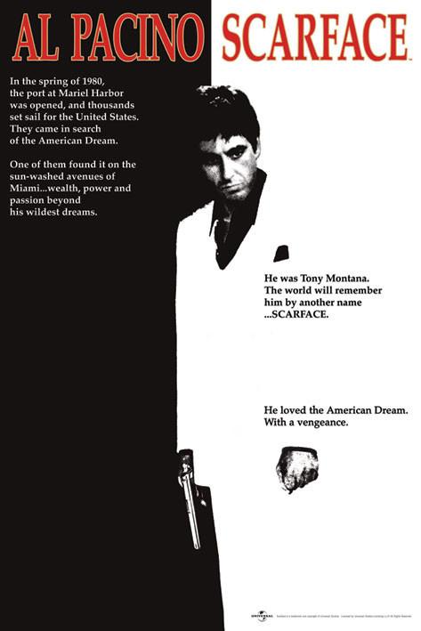Scarface - movie плакат