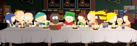 SOUTH PARK - last supper плакат