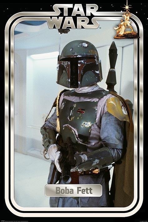 Star Wars - Boba Fett Retro Packaging плакат