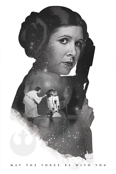 Star Wars - Princess Leia May The Force Be With You - плакат