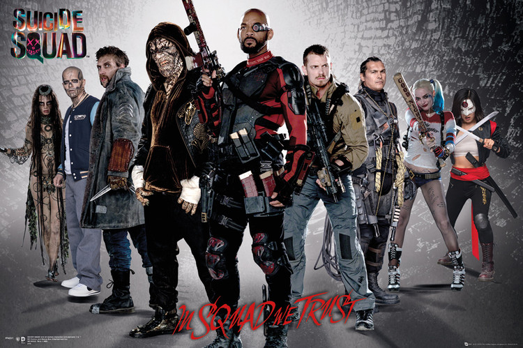 Suicide Squad - Group плакат