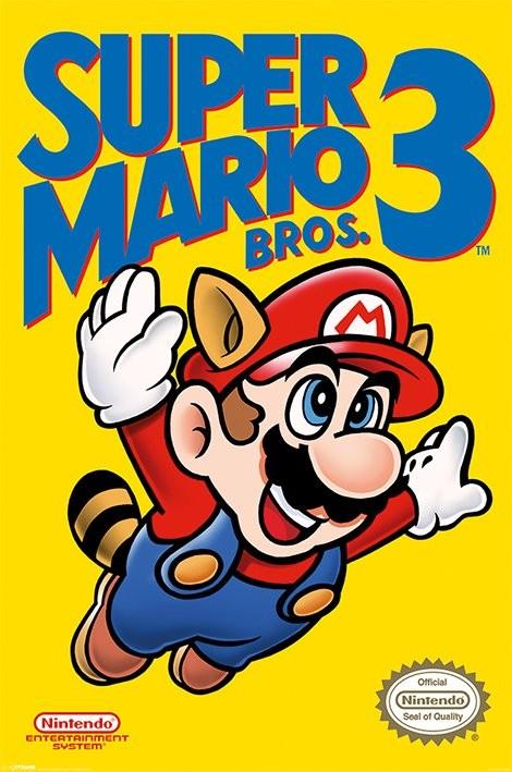 Super Mario Bros. 3 - NES Cover плакат
