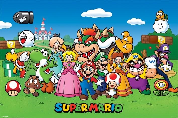 Super Mario - Characters плакат