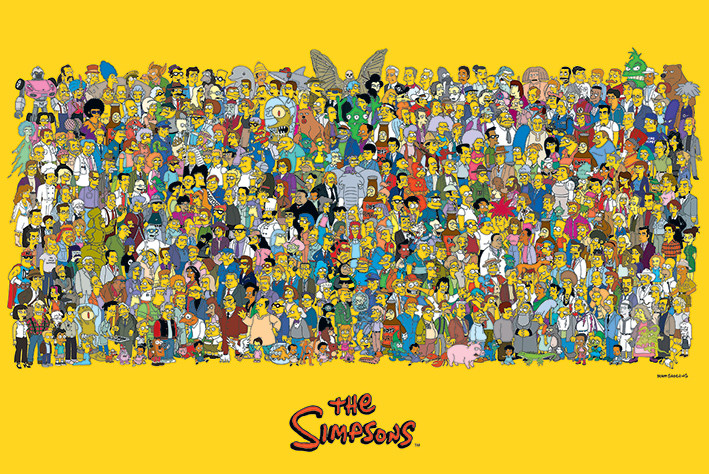 The Simpsons - Characters плакат