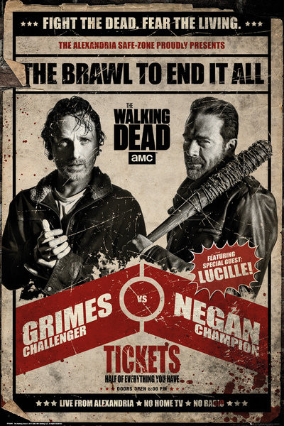 The Walking Dead - Fight плакат