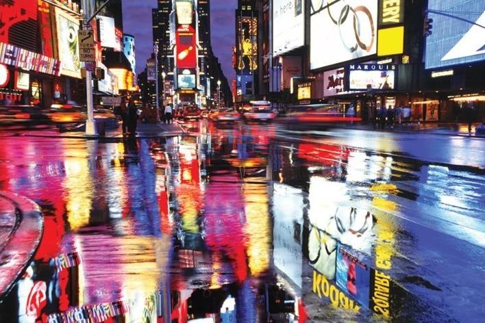 Times squareS - colours - плакат