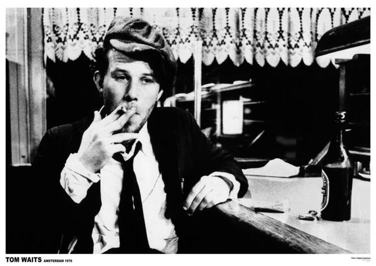 Tom Waits - Amsterdam '76 плакат