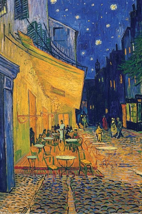 Vincent van Gogh - café terrace - плакат