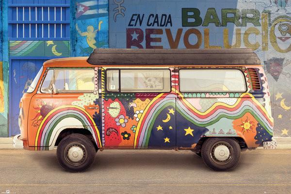 Volkswagen - Cuba плакат